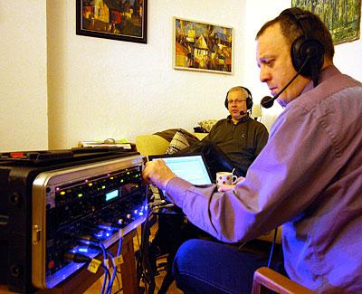 Aufnahme einer Chaosradiosendung zum Thema MediaWiki.