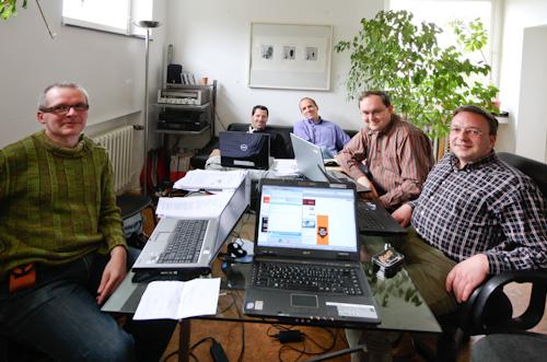 Schreibwettbewerbs-Jury 2009 –privat organisierte Büroräume